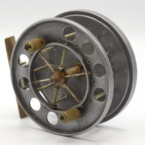 "An Allcock Aerial model 7950-T9 4"" centre pin reel,"