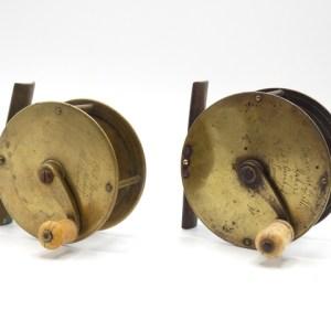 "An Eaton & Deller 3 ½"" brass salmon winch,"