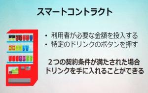 スマートコントラクトのイメージは自動販売機