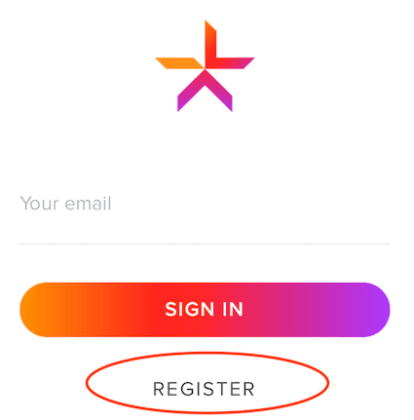 registerをクリック