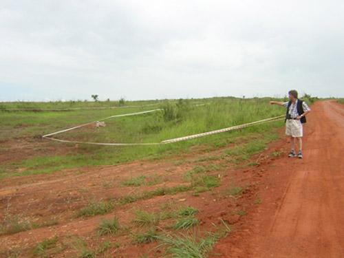 Landmine area
