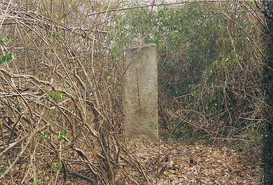Tomb stone of King Kafuxi Ambari - King of the Kissama Kingdom.