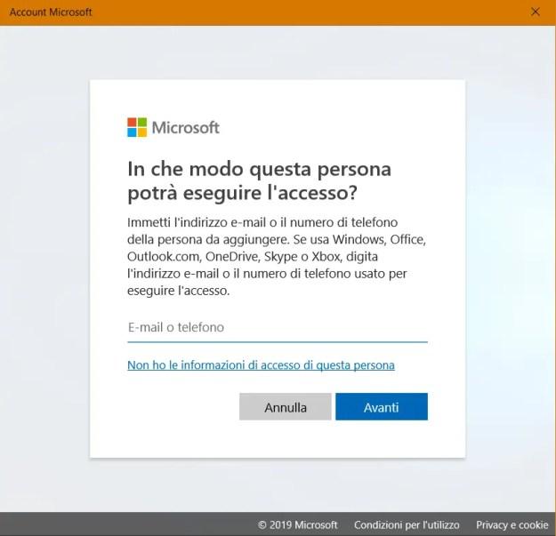 utente02 - Windows: come creare un nuovo account utente