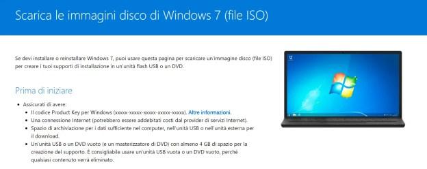 Scaricare le ISO di Windows 7 versione retail