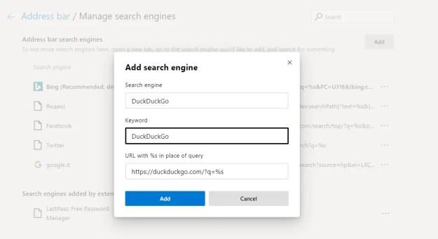 edgechromium02 - Come cambiare motore di ricerca predefinito in Microsoft Edge Chromium