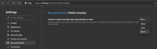 Media Autoplay disponibile