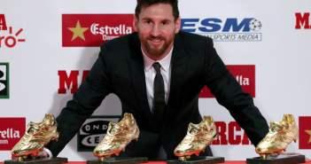 """Messi conquista quarta Bota de Ouro e fala sobre a relação com Cristiano Ronaldo """"Não sei se seremos amigos"""""""