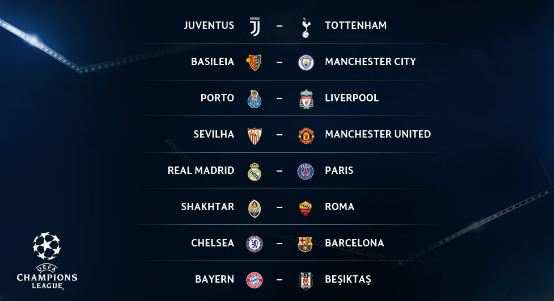 Liga dos Campeões: Sorteio define Real Madrid-PSG e Chelsea – Barcelona