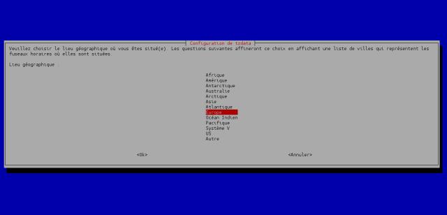 Changer le fuseau horaire et mettre à l'heure un serveur sous Debian