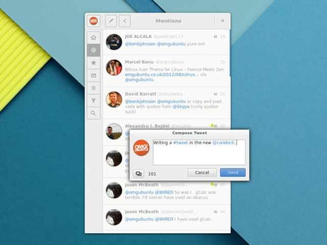 Corebird : Un client Twitter pour GNU/Linux