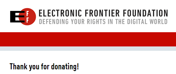Don du mois : Electronic Frontier Foundation