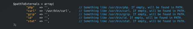 Configuration ruTorrent