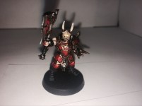 Unholy visions of blood and carnage have burnt out this blood warrior's eyes.