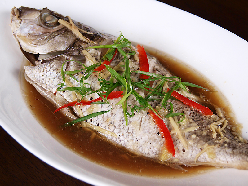 asian style steamed fish ang sarap