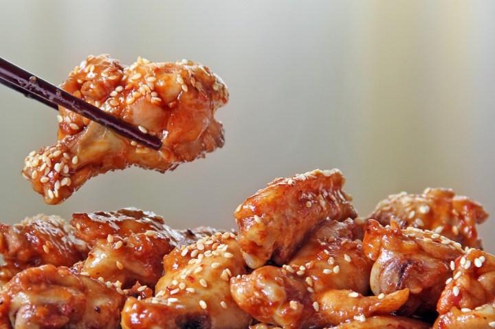 Chilli Seasame Chicken Wings Close