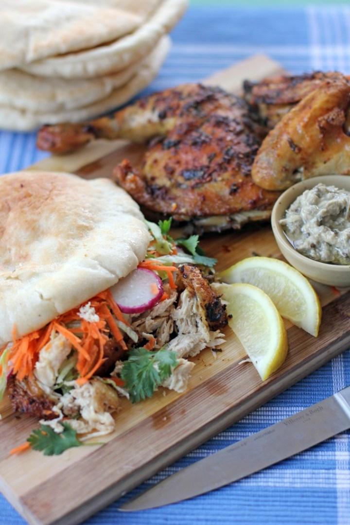 Chermoula Grilled Chicken served on Pita Bread