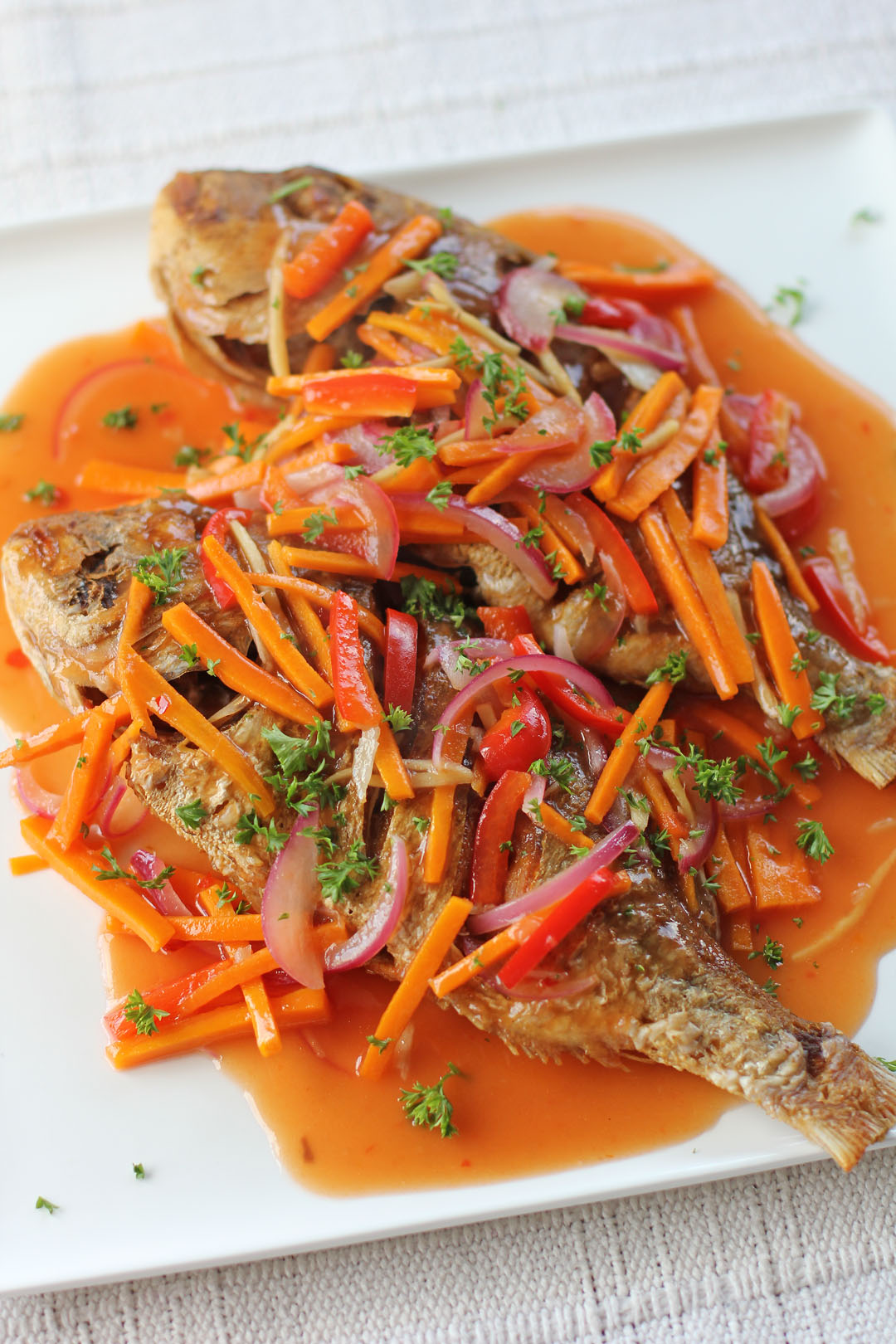 Escabeche ang sarap for Fish escabeche recipe