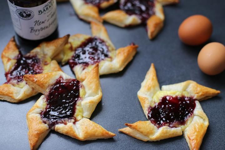 Boysenberry and Custard Danish Wide