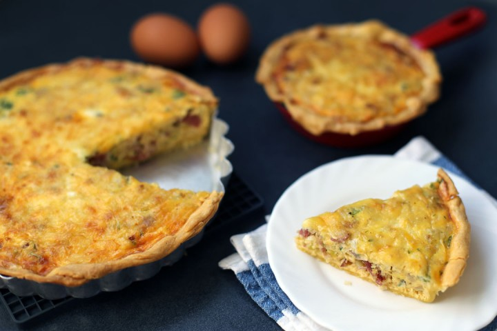 Bacon and Leek Quiche Wide
