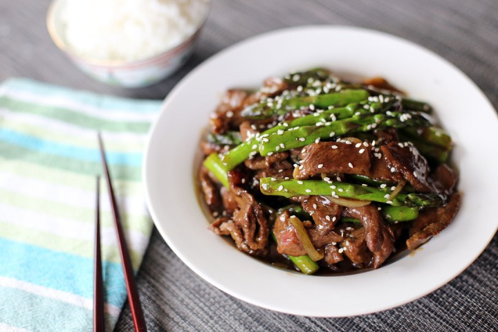 Beef and Asparagus Stir Fry Wide