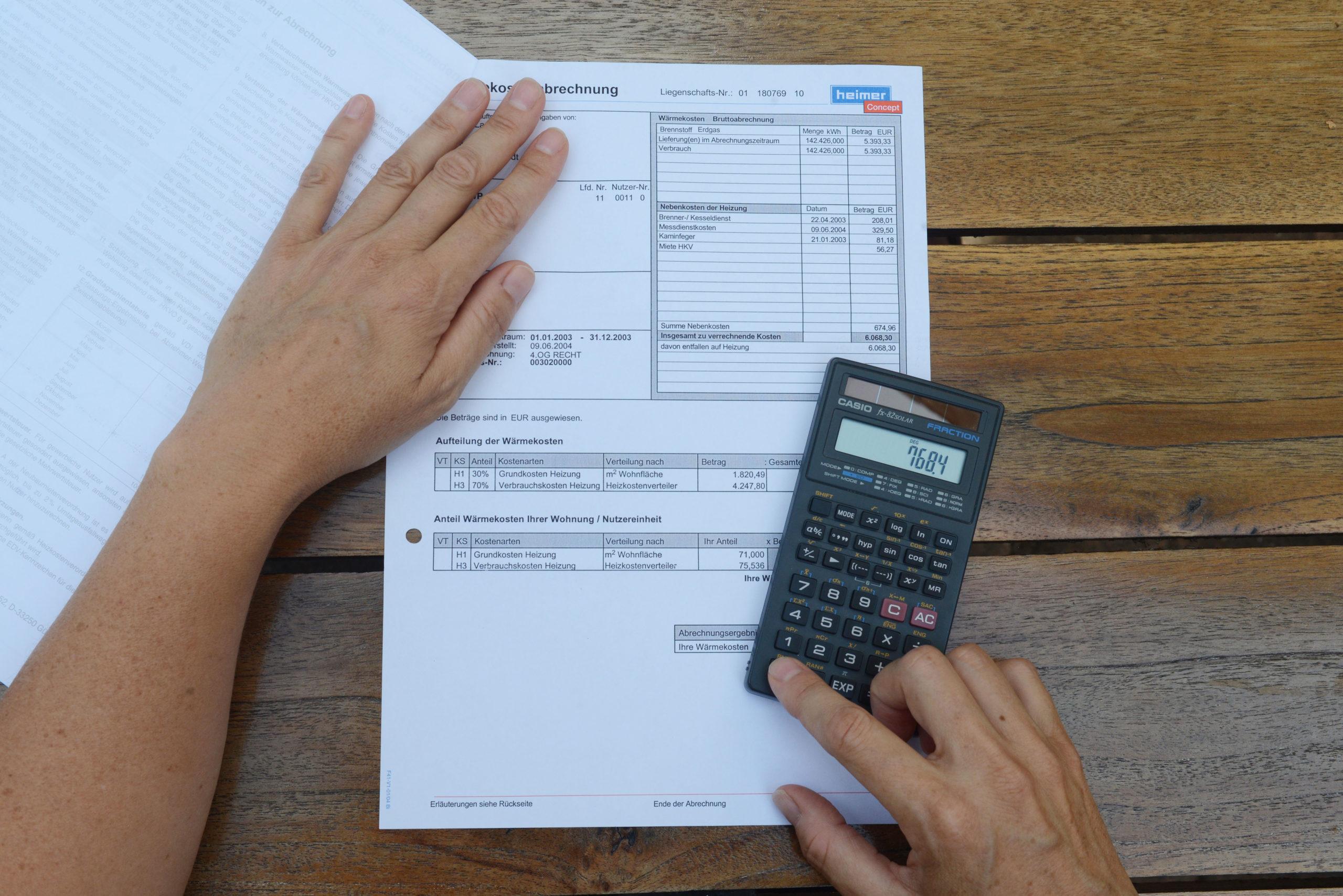 Nebenkostenabrechnung gründlich checken
