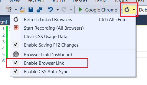 Enable Browser Link