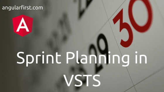Sprint Planning in VSTS