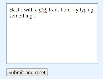 Angular Elastic - With CSS3 Transitions