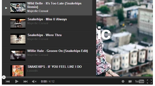 Angular YouTube Embed Start Playlist