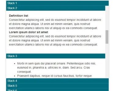 nzAccordiScroll Basic Usage