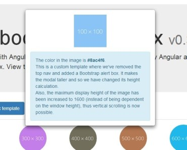 Animated Image Lightbox Using AngularUI Bootstrap Modal