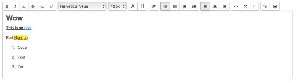 AngularJS Based Simple WYSIWYG Editor