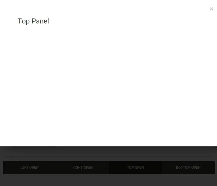 Angular Panels Top