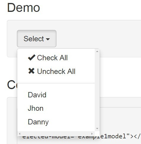 AngularJS Dropdown Multiselect Basic Demo