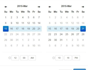 ez date picker Date Range Picker Demo