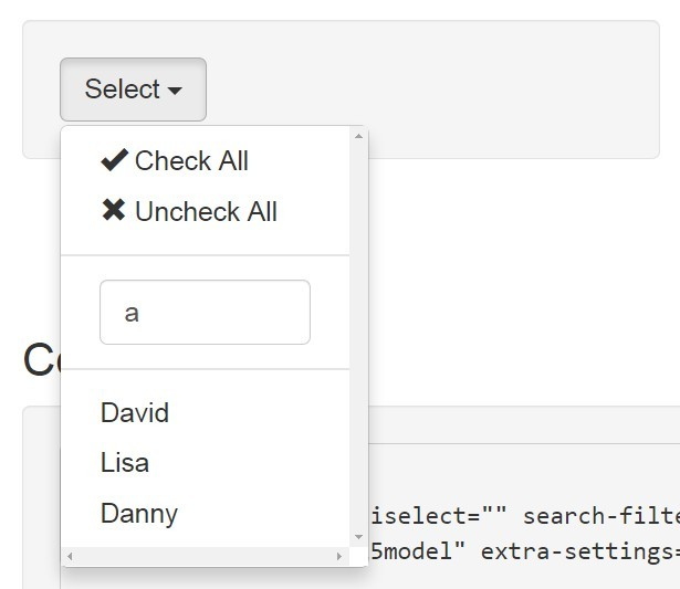 AngularJS Dropdown Multiselect Directive Search Filter