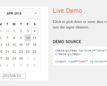 Lightweight Calendar Date Picker For Angular