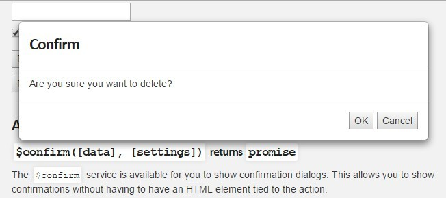 Confirmation Modal Dialog For Angularjs Angular Script