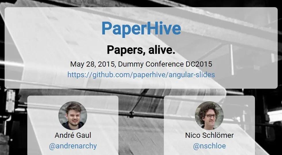 AngularJS Module To Create Presentation Slides - Slidedeck