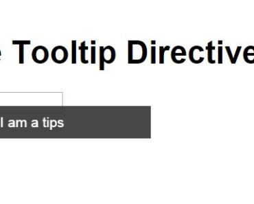 Simple Tooltip Directive For Angular Apps