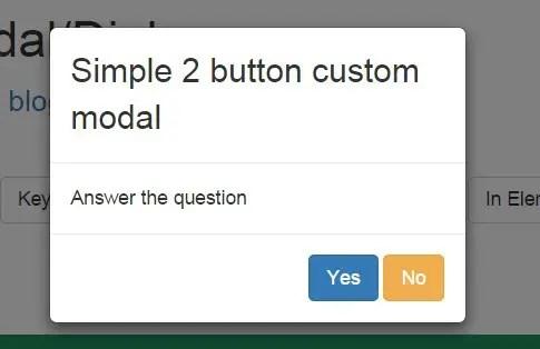 Angular 2 Bootstarp Modal Custom Buttons