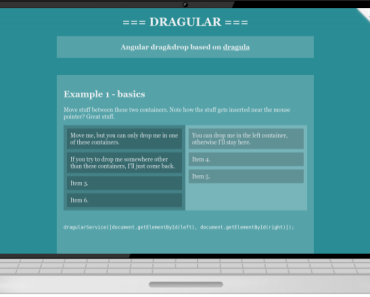 Angular Drag and Drop Based On Dragula.js