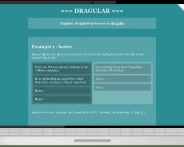 Angular Drag and Drop Based On Dragula.js