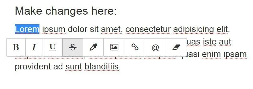 Angular-inline-text-editor
