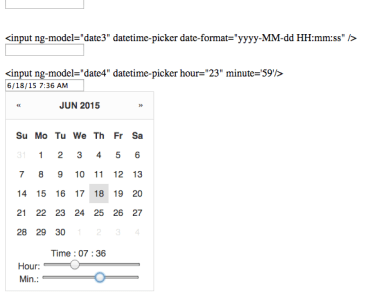Simple DateTime Piker For AngularJS