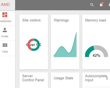 Angular Admin Dashboard with Material Design
