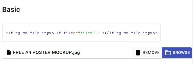 angular-material-fileinput Basic