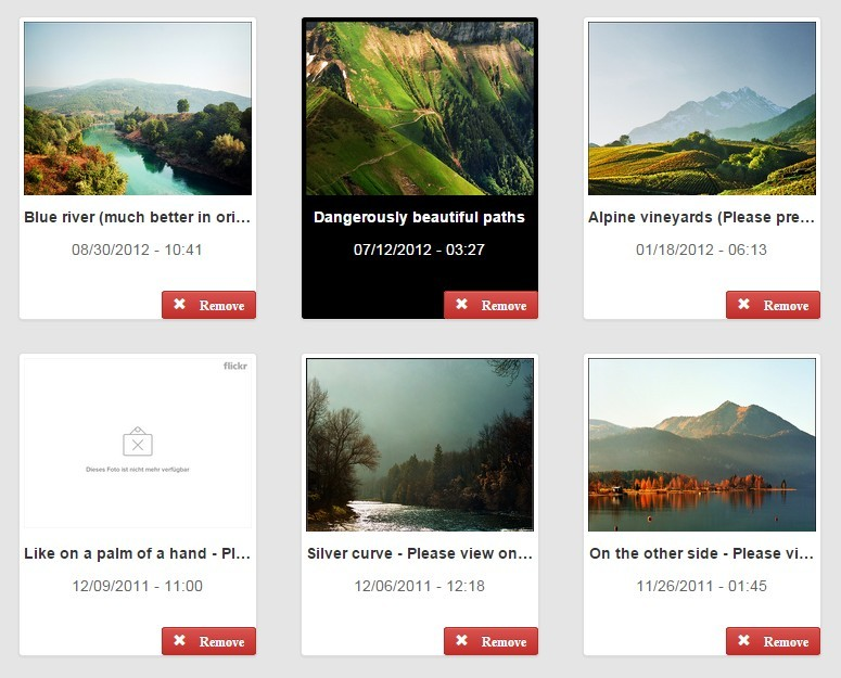 Angular & JSON Based Gallery Application Thumbnail Grid
