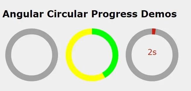 Angular Circular Progress