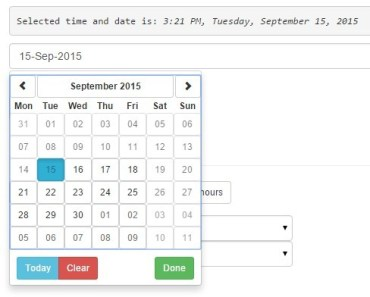 Angular UI & Bootstrap Date Time Picker